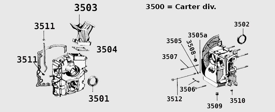 carter moteur porsche 356