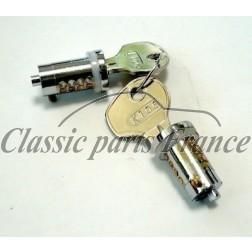 paire de barillets droit et gauche avec clés - Porsche 356