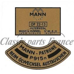autocollant filtre à huile Mann - 356