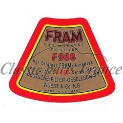 autocollant filtre à huile Fram - 356
