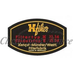 autocollant filtre à huile H-Filter