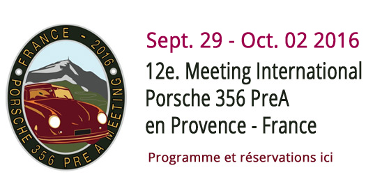 12e.Meeting Porsche 356 PreA - Programme et Inscription