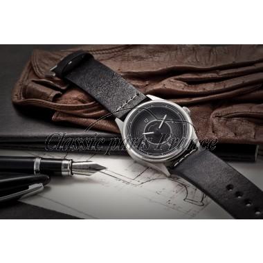 montre 356 bracelet horloge cadran noir/blanc
