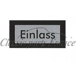 autocollant EINLASS filtre à huile Fram - 356