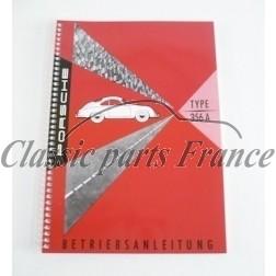 manuel de bord pour 356 A en réimpression en Allemand