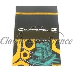 manuel de bord 356 Carrera 2 en réimpression en Allemand