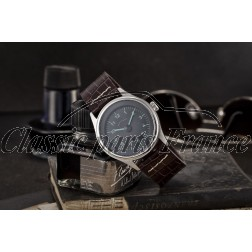 montre 356 bracelet homme horloge cadran noir/vert